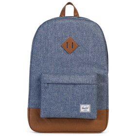 Herschel Heritage Backpack Unisex dark chambray crosshatch/tan